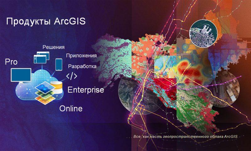 Базовые продукты инфраструктуры ПО ArcGIS