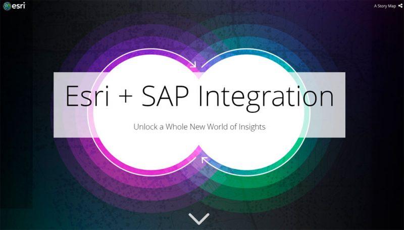 Эта карта-история иллюстрирует современный этап партнерства SAP и Esri и тесную интеграцию их технологий (она выложена на портале arcgis.com)