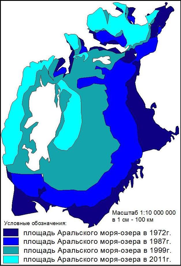 Процесс обмеления Аральского моря-озера